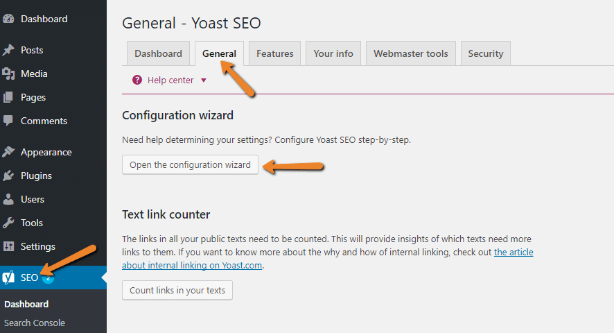 how to configure yoast seo