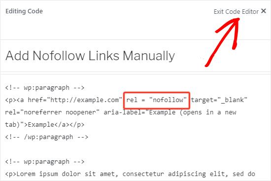 nofollow link