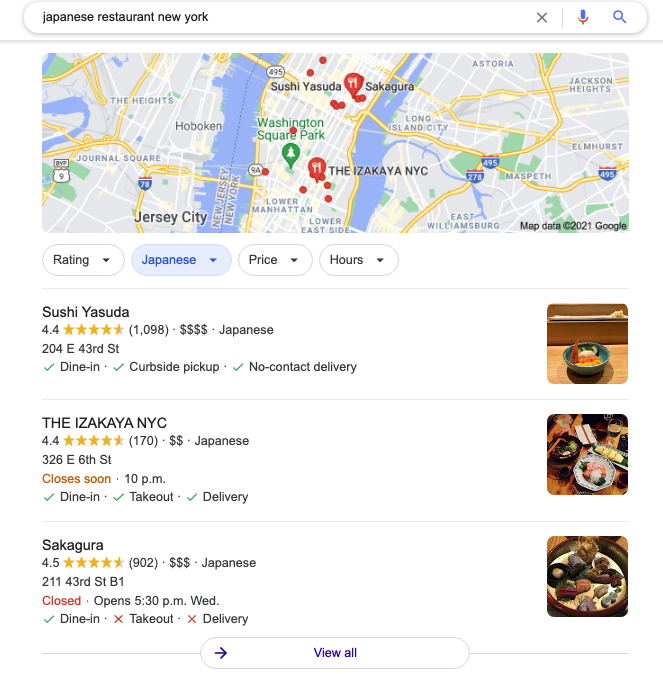 local seo map sample